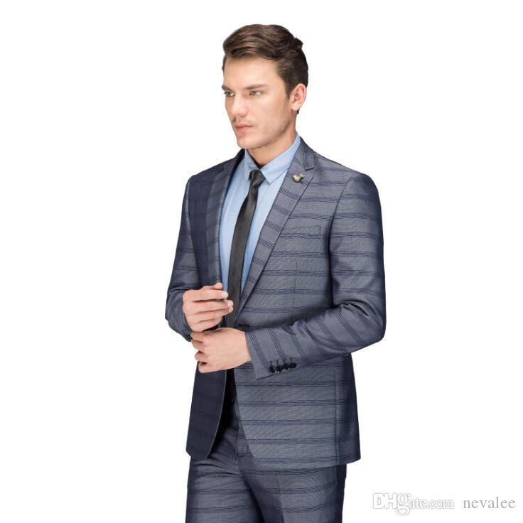 1dda6175d2 2019 Plaid Suits Men Luxury Brand Latest Coat And Pants Slim Fit Mens  Designer Suits Dress High Quality From Nevalee, $110.66 | DHgate.Com