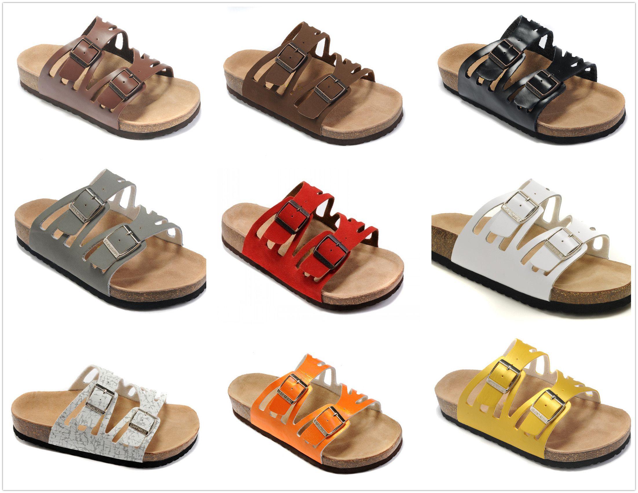 on sale 870a8 597c9 Neue Bunte Berühmte Marke Arizona Männer frauen Flache Ferse Flip Flops  Sandalen Sommer Strand Lässige Belüftung Komfortable Qualität Echte
