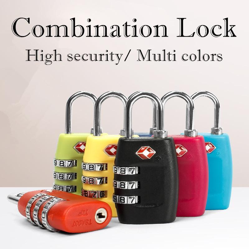 360a30636abe Compre Códigos De 3 Dígitos TSA Cerradura De Combinación Maleta De Candado  De Equipaje De Viaje Restaurable Alta Seguridad Colores Múltiples  Opcionales ...