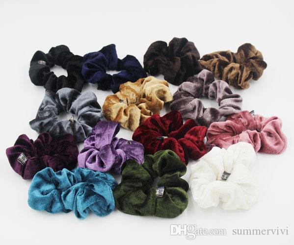 Velvet élastique cheveux Chouchou Scrunchy Bandeaux Head Band Ponytail accessoires princesse Porte-filles Enfant Accessoires cheveux A00159