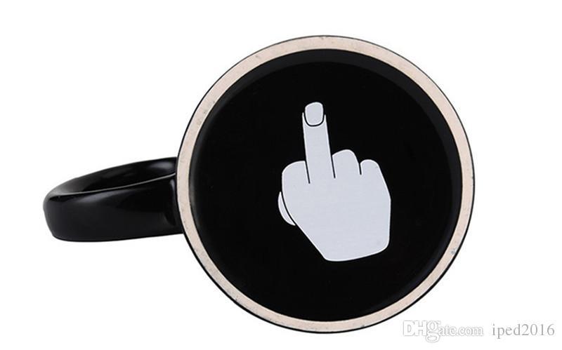 Creative Have a Nice Day Coffee Mug 350ml Divertente Middle Finger Cups e tazze il latte di tè al caffè Regali di compleanno di novità