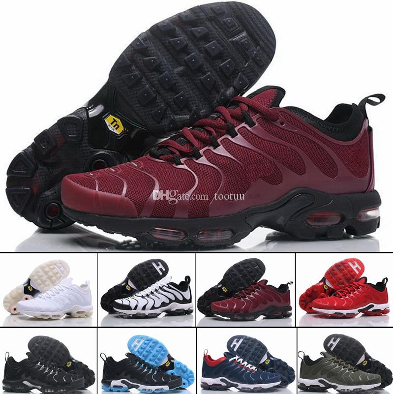 008 Discount Brand New Running Shoes For Men Black White Mens Air Cushion Plus TN Shoes Man Trainers Sneakers Jogging Tennis Athletic Shoes cheap sale 100% guaranteed YLrST
