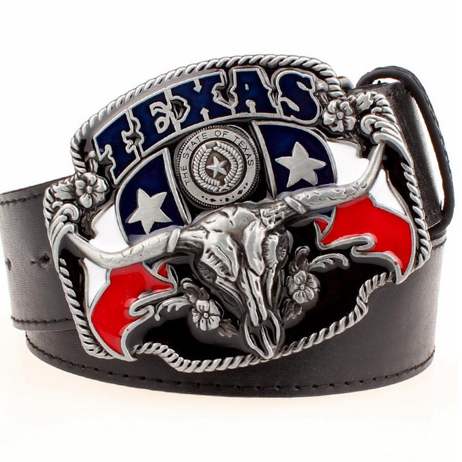 93e19347a12 Acheter Far West Cowboy Personnalité Hommes Ceinture Boucle De Métal  Taureau Tête Américain Texas Western Cowboy Style Ceintures Tendance  Ceinture Pour ...