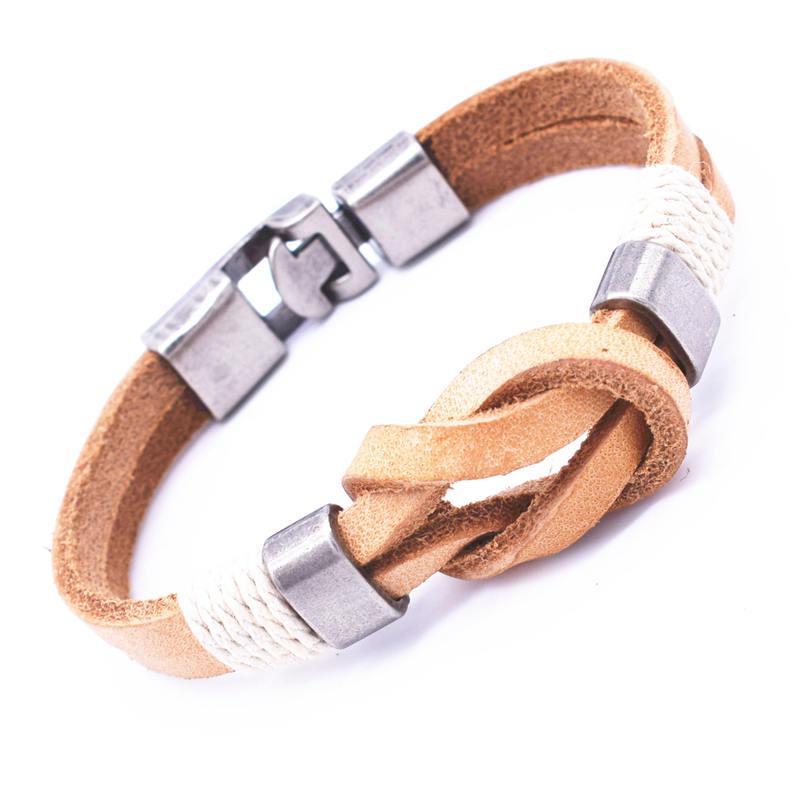 En gros manchette tressé Wrap Bracelet Bracelets Hommes Bijoux Pirate 3 Types Style Véritable En Cuir Ancre Bracelets Cadeaux