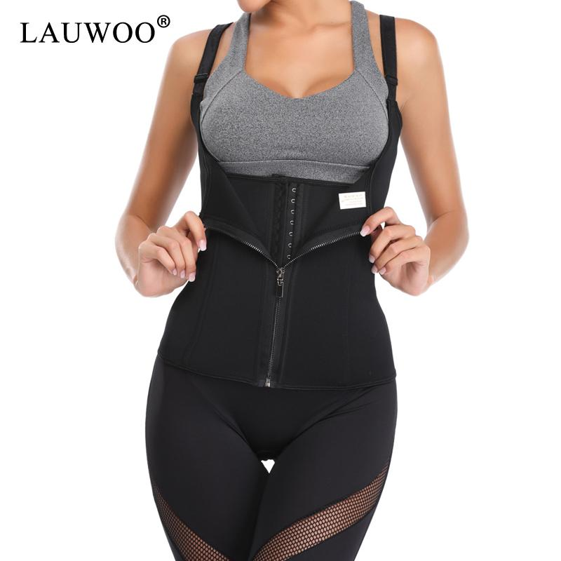 22d4fb7f1 2019 Hot Shapers Neoprene Sauna Sweat Vest Waist Trainer Cincher Women Body  Slimming Trimmer Corset Workout Thermo Push Up Trainer From Bevarly