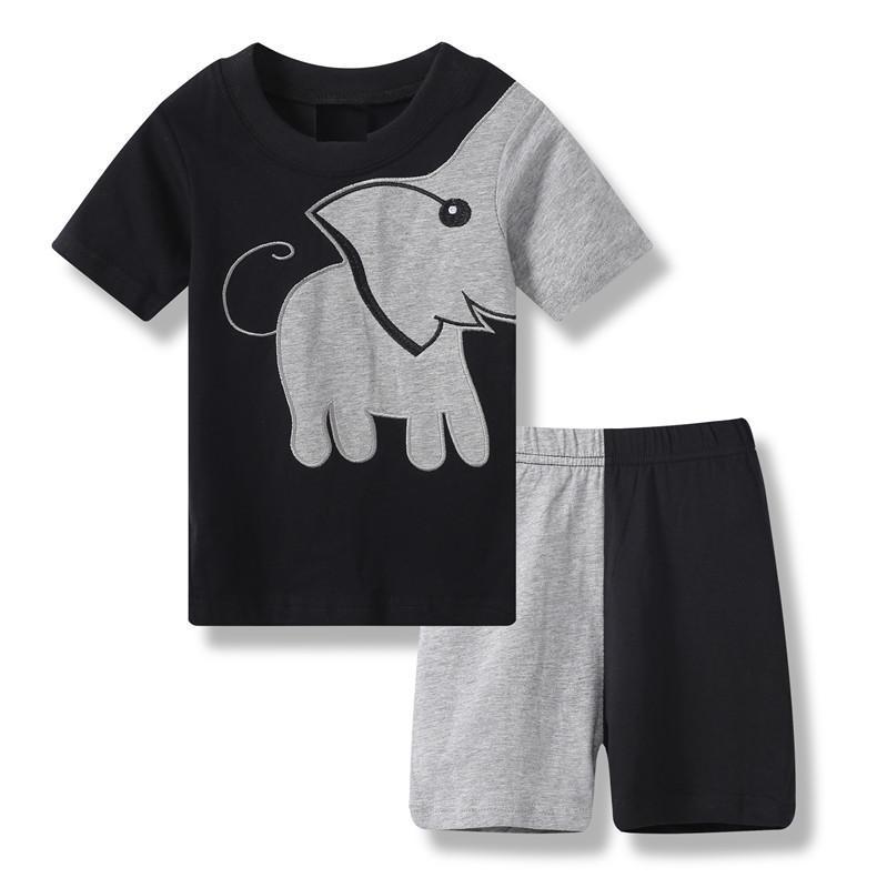 aae8fd2030576 Baby Jungen Kleidung Sets neue Kinder Kleidung Sets Jungen Sommer Kinder  Kleidung Cartoon Hund Kurzarm Baumwolle Junge Kleidung passt Y1893004