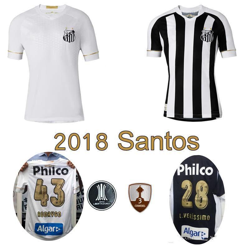 c03ec498e 2019 18 19 Santos FC Soccer Jersey 2018 2019 Santos Home Away Gabriel  RODRYGO RENATO SASHA Football Shirts From Sport jerseys