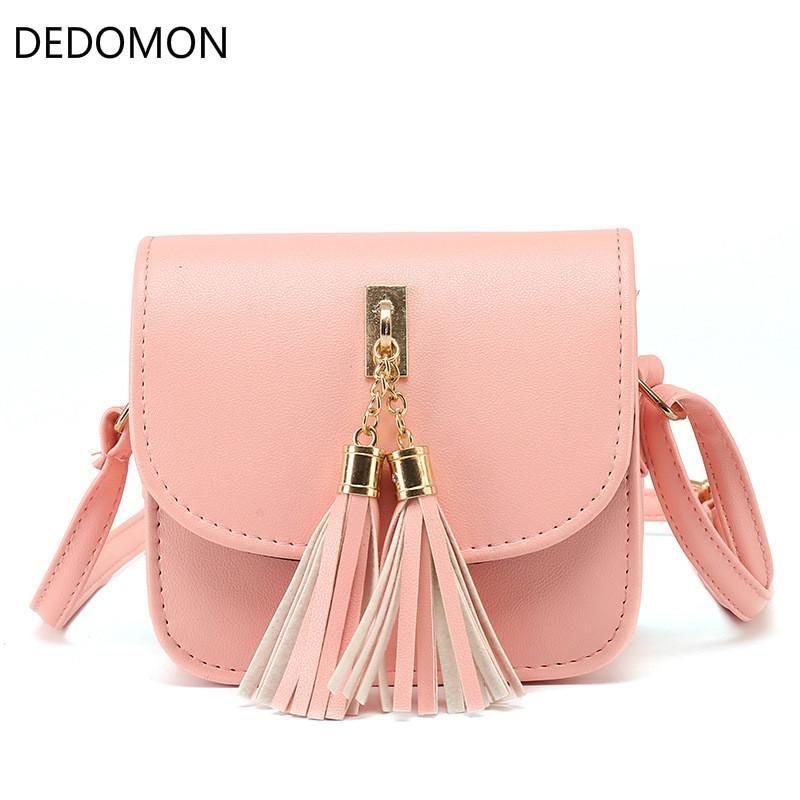 206f78132a9 Fashion 2018 Small Chains Bag Women Candy Color Tassel Messenger Bags  Female Handbag Shoulder Bag Flap Women Feminina Crossbody Purses Ladies  Purse From ...