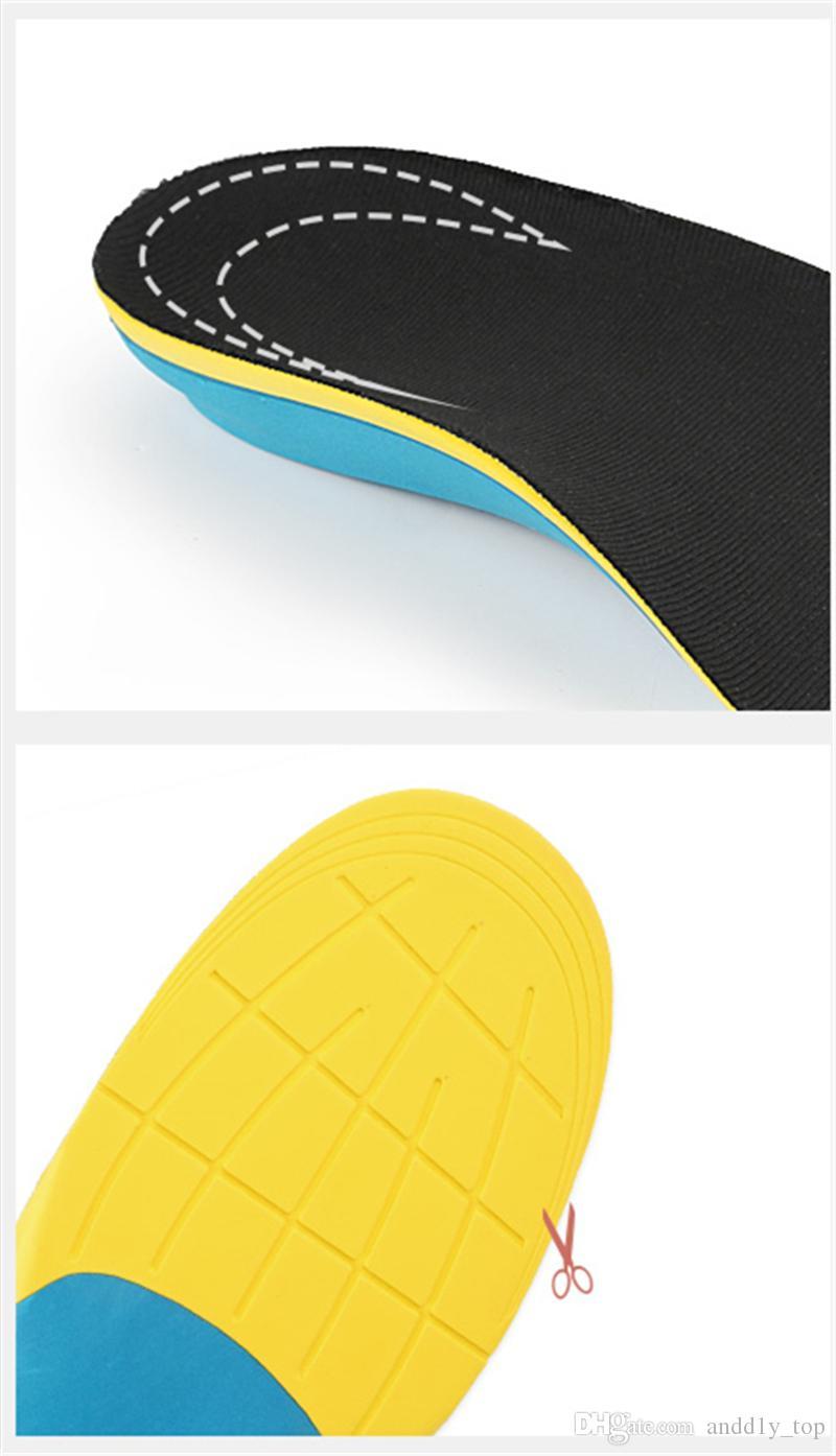 Spor astarı ter emici şok emici börek Koşu Koşu Basketbol eğlence kemer destek tam ped Erkek Kadın düzeltme ayakkabı-pad
