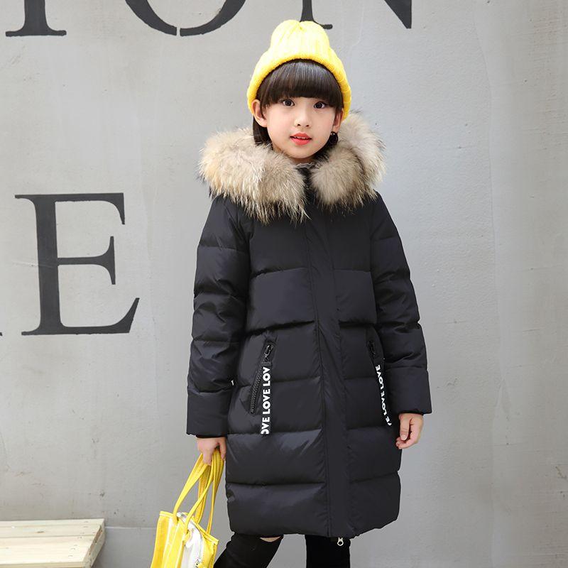 Moda 2017 Ragazze Lungo Inverno Piumino Bambini Caldo Bambino Spessa Cappotto Perizoma Capispalla Cold-30 gradi Parka Autunno