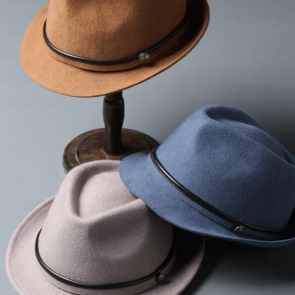 Acquista Uomo Inverno Caldo Berretto Europa E Stati Uniti Moda Cappello Jazz  Caps Cappelli Su Misura Cappellini All ingrosso Di Panno Di Lana Pura A   36.59 ... e84810a26399