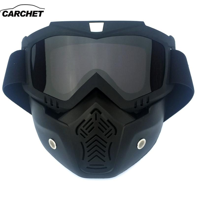 CARCHET Men Women Cycling Glasses With Full Face Mask Winter Outdoor Sport  Ski Bike Mask Neoprene Bicycle Motorcycle Glasses Bobster Motorcycle  Goggles ... eb0ff099d3