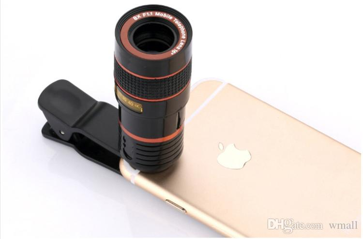8x Zoom Optical Phone Telescope Portable Mobile Phone Telephoto Camera Lens and Clip for iphone smart phone