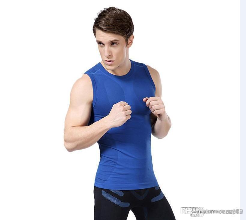 The new men 's body sculpting plastic clothing light pressure comfortable breathable fast - drying sports vest