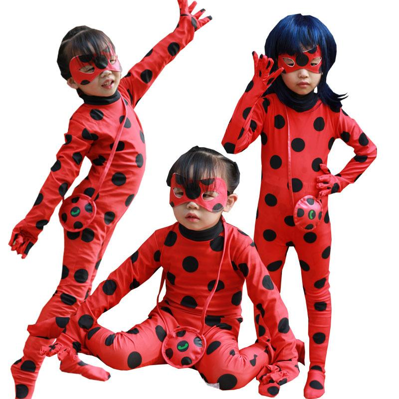 ca65b61dd4c2db Lady Bug Girl Halloween Costume For Kids Costumes Children Spandex Romper Fancy  Dress Halloween Costume Mascot Pirate Costumes Astronaut Costume From  Cadly, ...