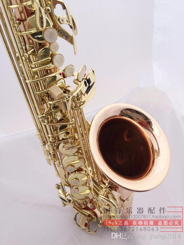 Nuovo arrivo YANAGISAWA A-W02 sassofono fosforo tubo di rame lacca oro superficie Sax alto tono eb con bocchino guanti custodia