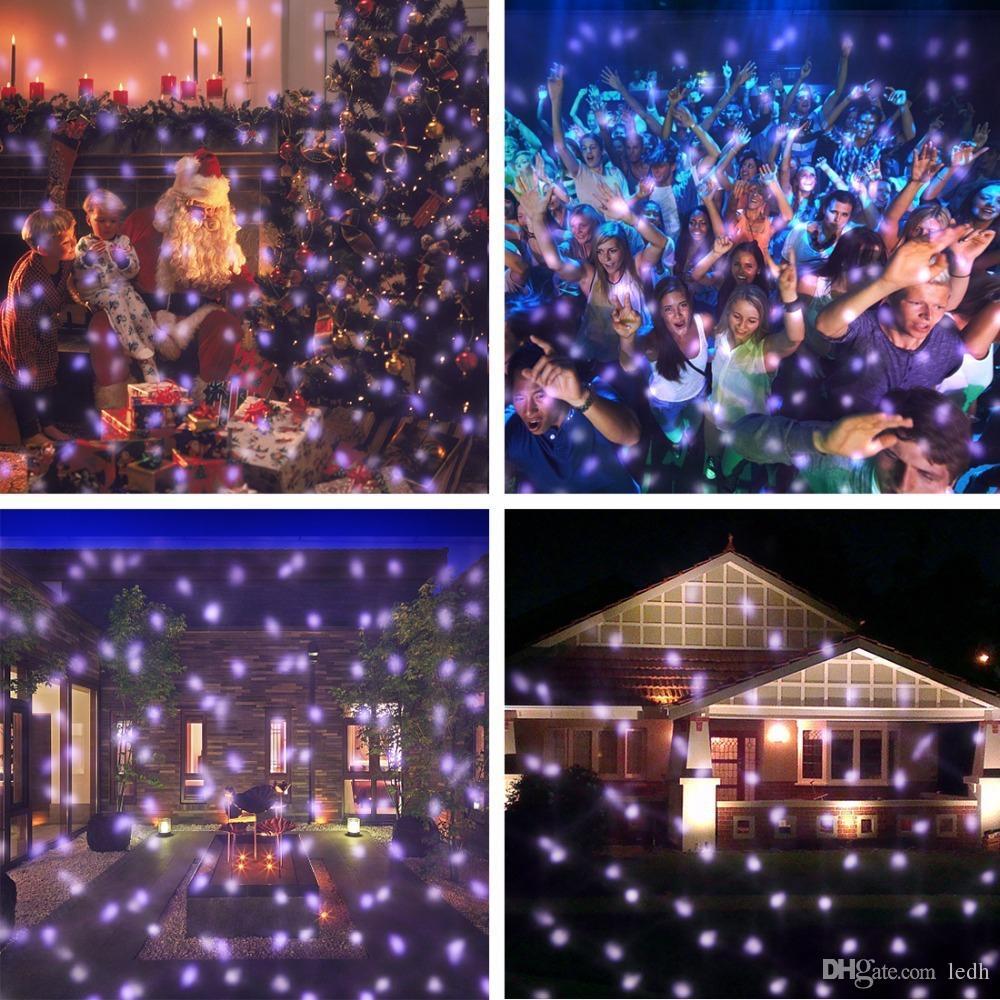 Christmas Projector Lights.Led Snowfall Projector Lights Christmas Projection Light White Snow Waterproof Decoration Lamp