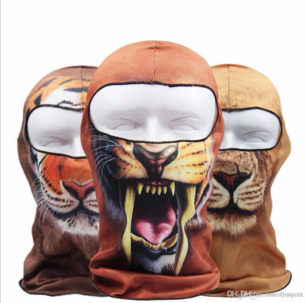 Vente en gros- LumiParty Thin 3D Animal Plein Air Cyclisme Ski Balaclava Cou Cagoule Masque Complet