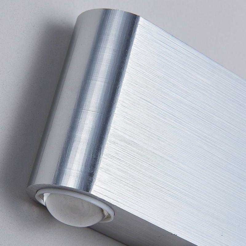 8 W Moderno Retângulo LED Arandelas de Parede Luminária de Alumínio de Alta Potência 8 LED Acima Para Baixo Da Lâmpada de Parede Spot Light Stair Light