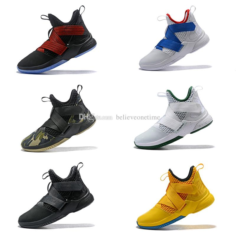 2a0064a5093d9e New Soldier XII 12 EP Mens Basketball Shoes 12s SVSM Home Limit Camouflage  Green ICE Sports Sneakers With Box 7 12 Shoes For Sale Baseball Shoes From  ...