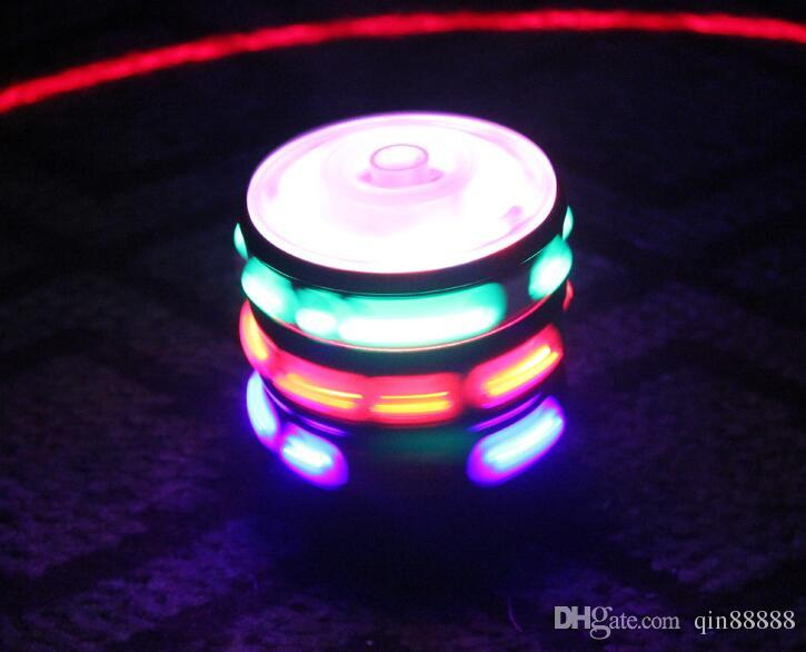 New Flash Gyro Gyroscope Colorful Lights Peg-Top Manual LED Beyblade Music Top Selling Children's Free Spinning Top Toys