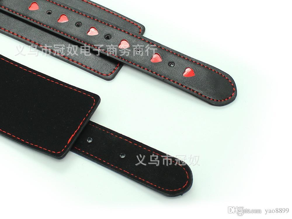 Black Soft PU Leather Handcuffs Restraints Sex Bondage Sex Products Ankle Cuffs Bondage Slave Sex Toys for Couple