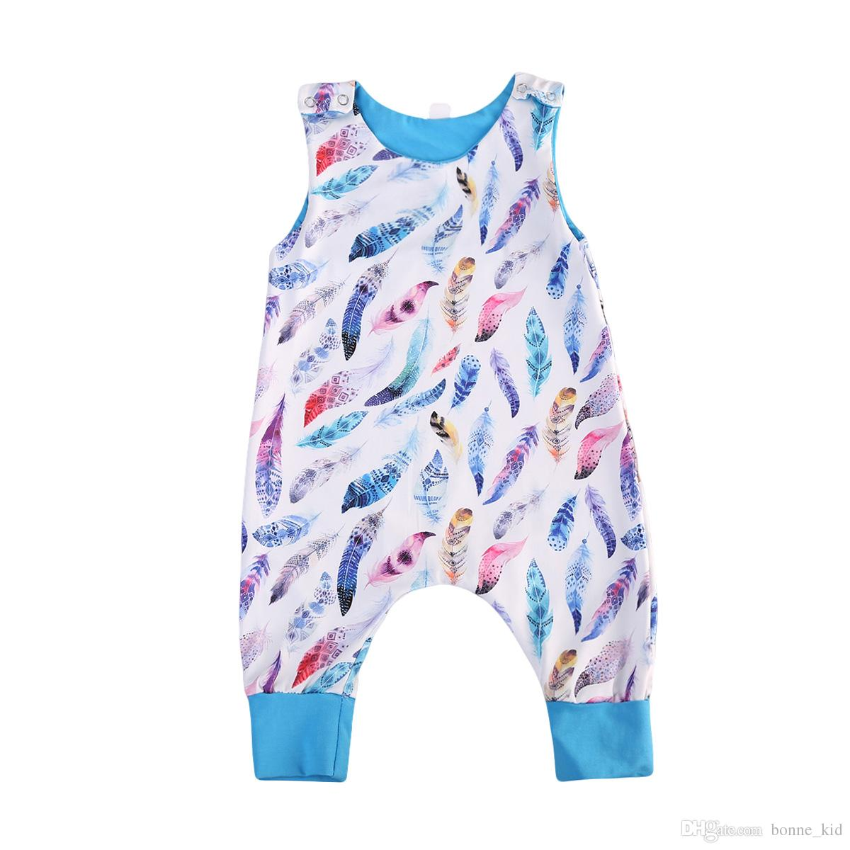 2019 Summer Baby Boy Feather Jumpsuit Onesies Blue Romper Toddler  Sleeveless Pajamas Baby Outfit Bodysuit Sunsuit Kid Clothing Set From  Bonne kid eb572cdd2b1