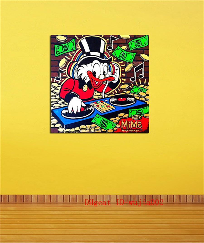 Großhandel Dj Duck 1 Leinwand Gemälde Wohnzimmer Wohnkultur Moderne