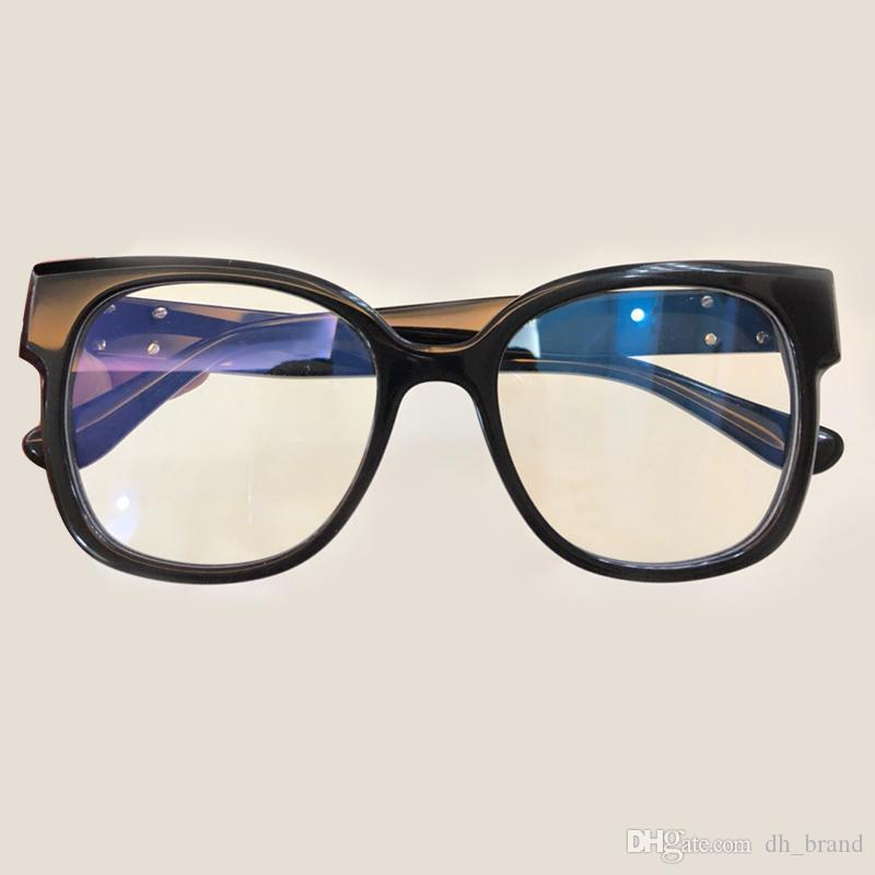 3b43a04f4f Classic Retro Clear Lens Optical Frames Glasses Brand Designer Men Women Eyeglasses  Vintage Plank Spectacle Myopia Eyewear Frame Acetate Optical Glasses ...