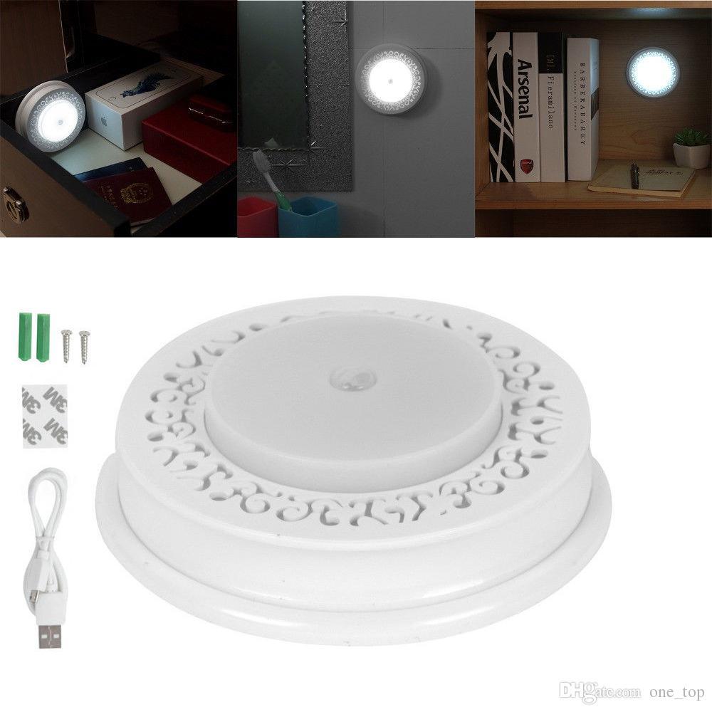 Usb Rechargeable 8 Led Light Motion Sensor Home Corridor Night ...