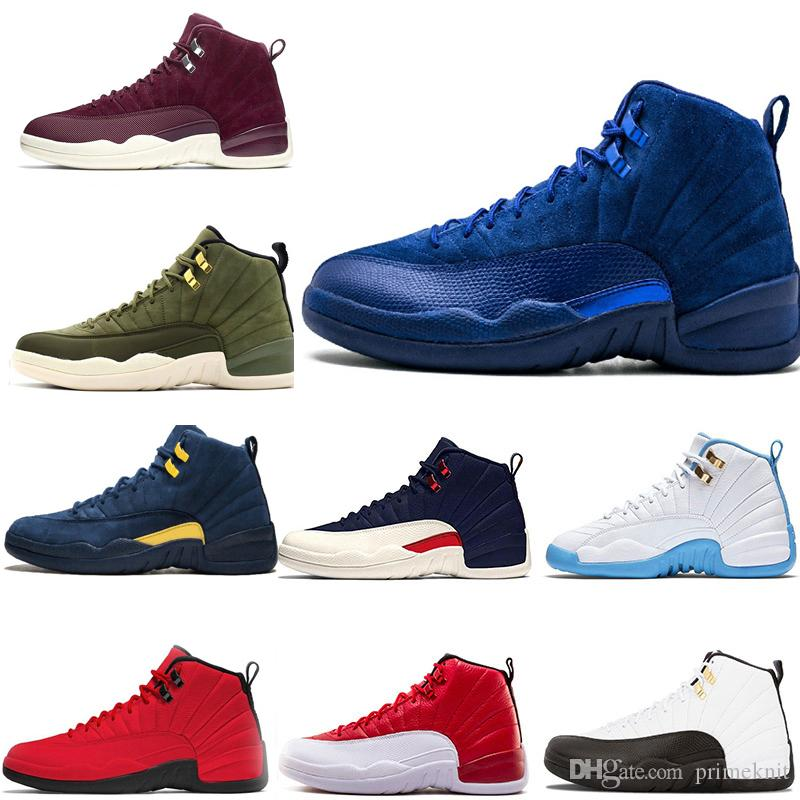 f78f6629a99 New Basketball Shoes 12 12s Mens Womens Playoff Michigan College ...