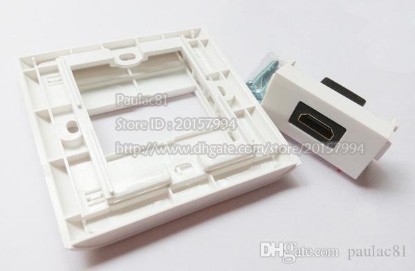 Haute Qualité HDMI 1.4 Femelle à Femelle Module Plug Panneau Pour Plaque Murale / Livraison Gratuite /