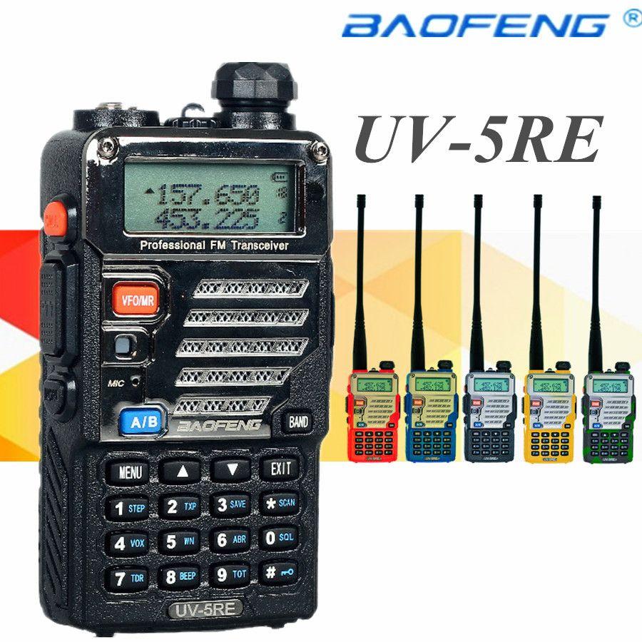 Walkie talkie baofeng uv-5re dual band cb radio baofeng uv5r versao  atualizada 5 w 128ch uhf & vhf radio portatil