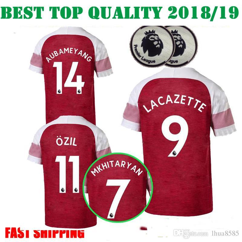 291abb2f899 2018 2019 Arsenal Home Women Soccer Jersey OZIL AUBAMEYANG LACAZETTE ...