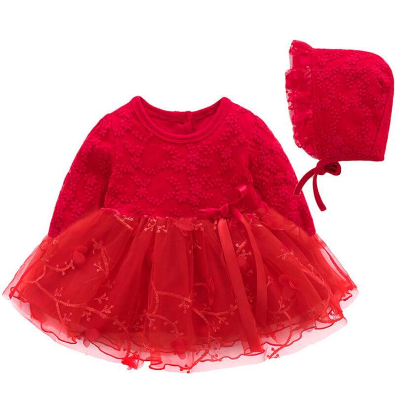 a6d1cff8c 2019 Newborn Baby Girl 0 1 Year Birthday Dress Petals Tulle Toddler ...