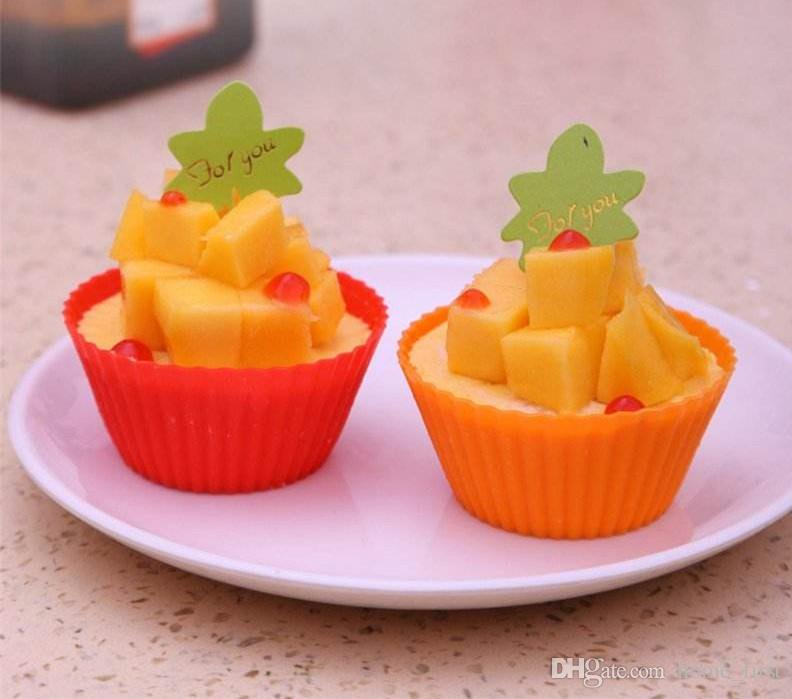 Round 7cm Silica Gel Muffin Cake Cup Chocolate Cake Wrappers Cake Decorating Tools Baking Cupcake