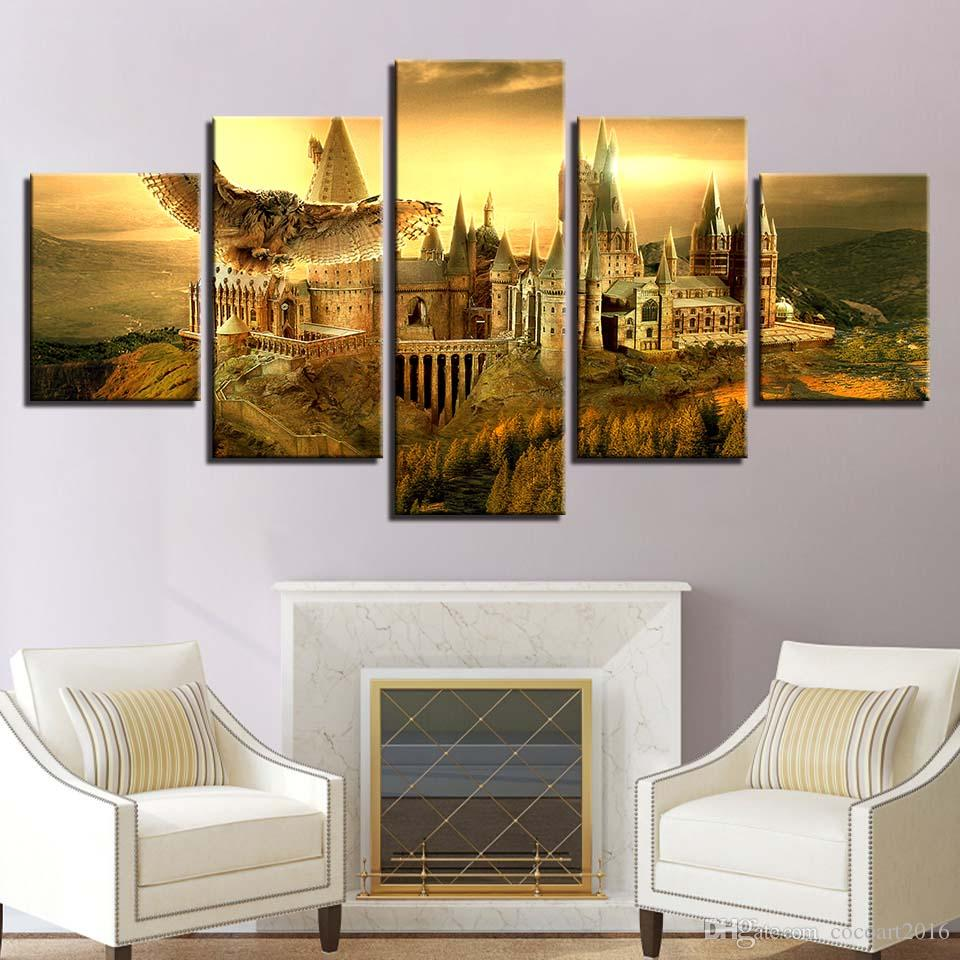 Artwork Hd Prints Eagle Home Decor 5 Pieces