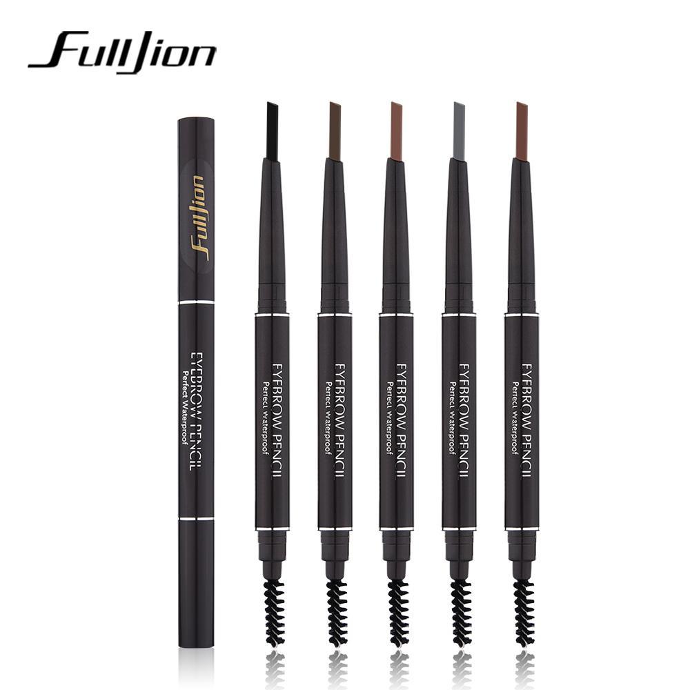 Fulljion Rotatable Eyebrow Pencil Waterproof Eye Makeup Cosmetic Pen