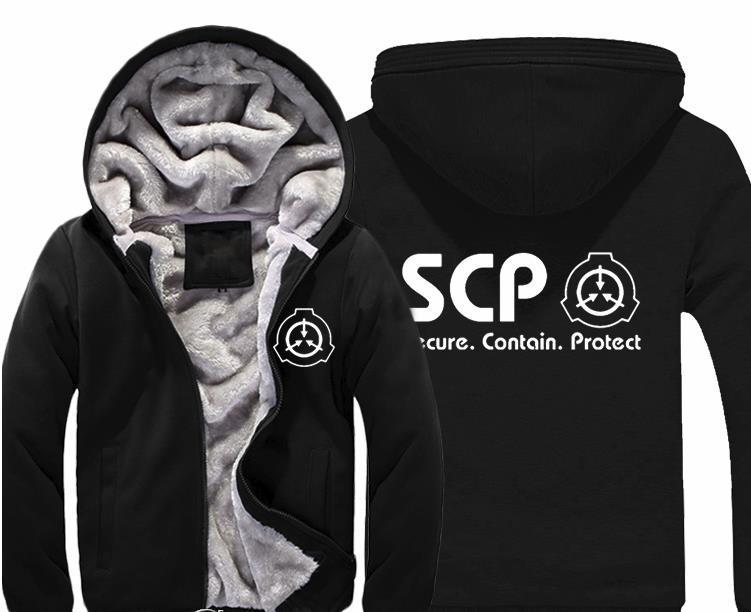 Großhandel SCP Secure Contain Schützen Hoodie Herren Casual Winterjacke  Mantel Warm Verdicken Fleece Reißverschluss Sweatshirts Für Männer Und  Frauen Von ... b47366b82f