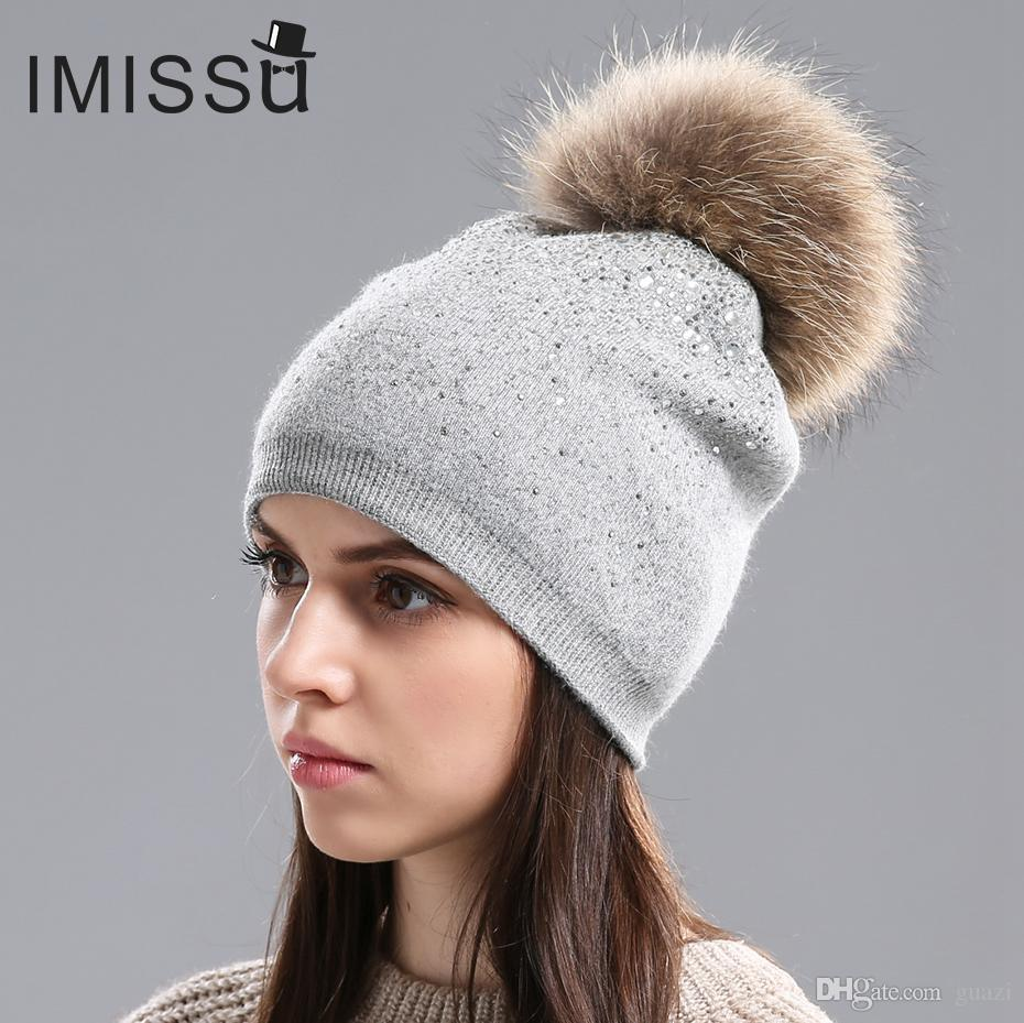 30761af1173 IMISSU Winter Women s Hats Thick Warm Outdoor Ski Hats For Girls ...