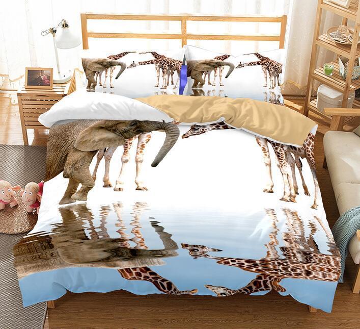 Großhandel Us Au Größe Luxus Bettwäsche Set Bettdecke Tier Elefant