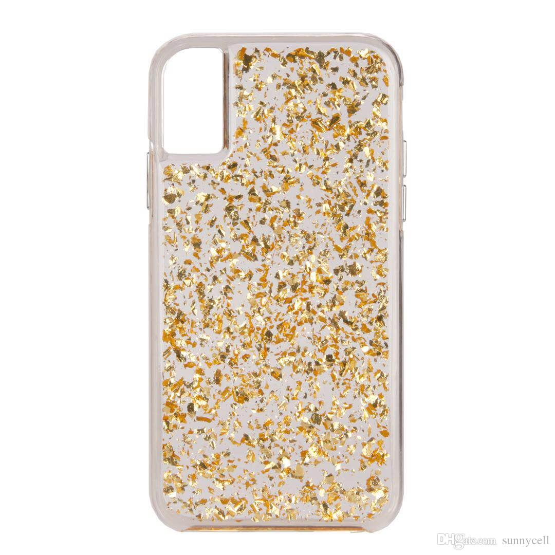 reputable site caebc 01d59 CASE MATE For iPhone 6 7 8 Plus X XR XS MAX Hybrid Bling Case Glitter Back  Cover Protective Case With Opp Bag
