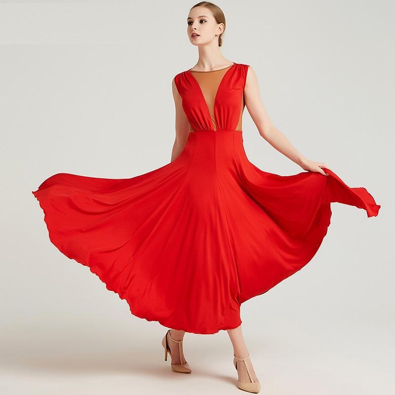 Acquista Vestito Da Ballo Delle Donne Vestiti Da Ballo Standard Vestito Da  Flamenco Abbigliamento Da Ballo Costume Da Ballo Spagnolo Costumi Rumba Di  Waltz ... a01ebe4c9dc