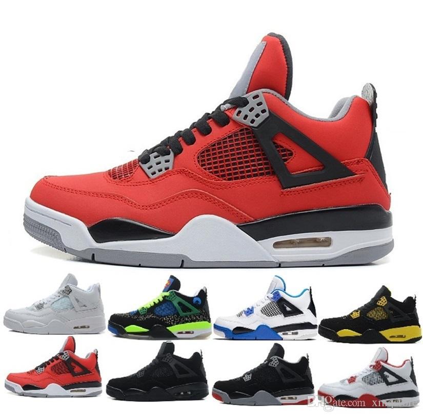 huge discount 208e4 698d1 Acheter Nike Air Jordan Aj 2018 Nouvelle Arrivée Originale J4 Hommes Casual  Chaussures Discount Pas Cher Femmes Rétroing Canard Chaussures Basses  Taille 8 ...