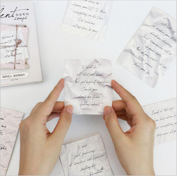 2019 Pack Retro Love Letters Memories Romantic Postcard Greeting Card Envelope Gift Birthday Message From Huojuhua 3247