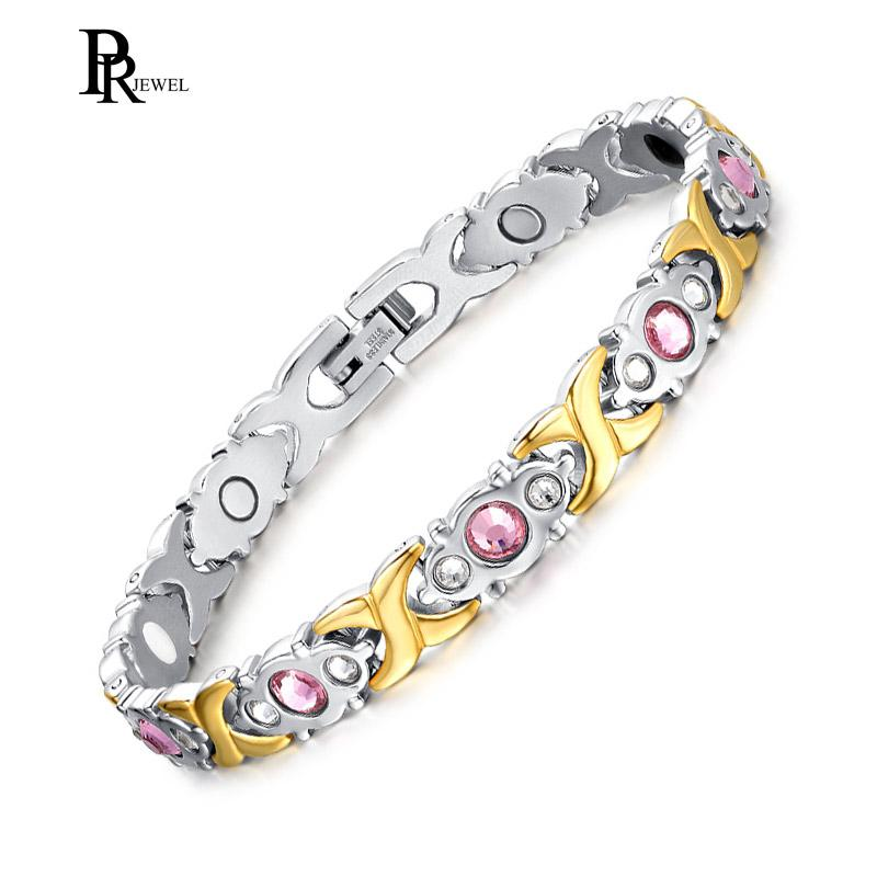 81db09cd63dc Compre Pulsera Para Mujer Elegante Terapia Magnética Alivio Del Dolor Para  La Artritis Pink Stone Joyería Femenina A  23.56 Del W245