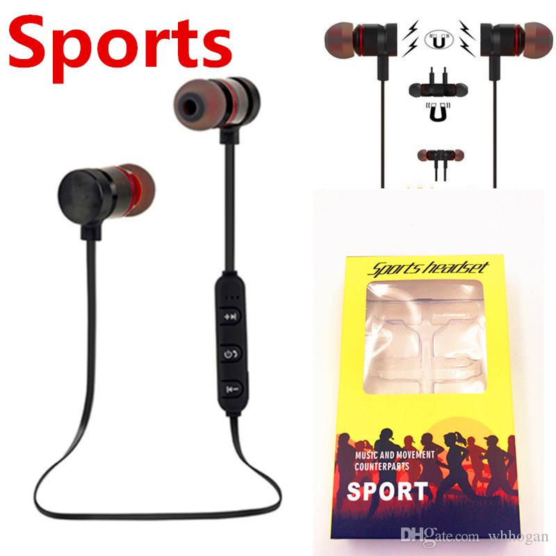 2b03cd8344e M90 Magnetic Bluetooth Headphones Stereo Microphone Wireless Headset Sports  Bluetooth Earphones For Samsung S9 8 Iphone X 8 With Retail BOX Best Wired  ...
