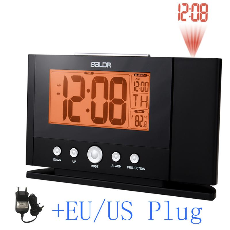 Projection Alarm Clock Wall Ceiling Display Weekday Temperature Orange Backlight Clocks Modern Time Watch Electronic Table By Starch