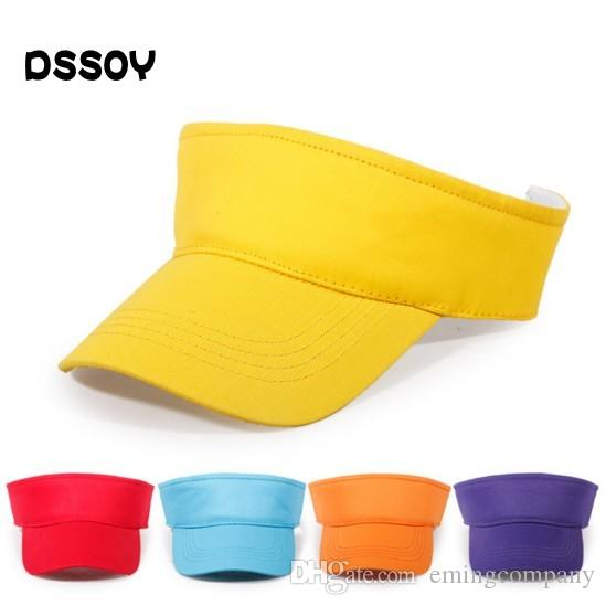 01974703 Quality Designer Kids Plain Cotton Adjustable Sports Sun Visor Custom  Embroidery Printing Logo Children Golf Hats Summer Blank Sports Caps Big Hats  Hat ...