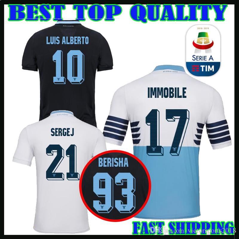 18836b8d4 2018 2019 IMMOBILE LAZIO SOCCER JERSEY HOME AWAY THIRD 18 19 MANE Soccer  Jersey M.Salah JERSEY FIRMINO Football Shirts Online with $20.72/Piece on  ...
